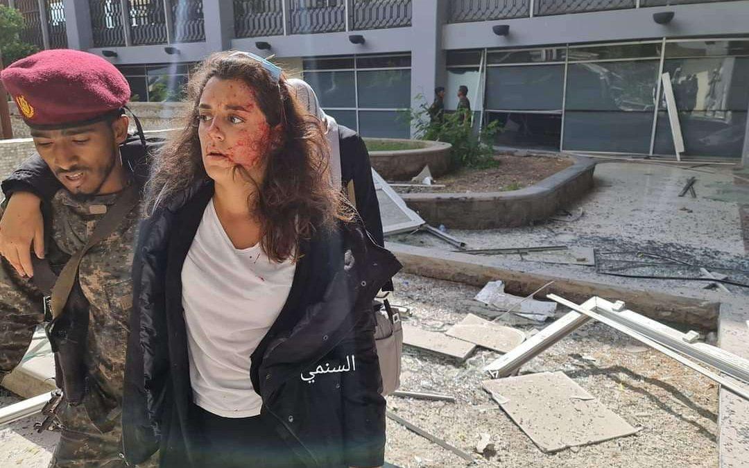 إصابة المتحدثة باسم الصليب الأحمر الدولي في استهداف مطار عدن