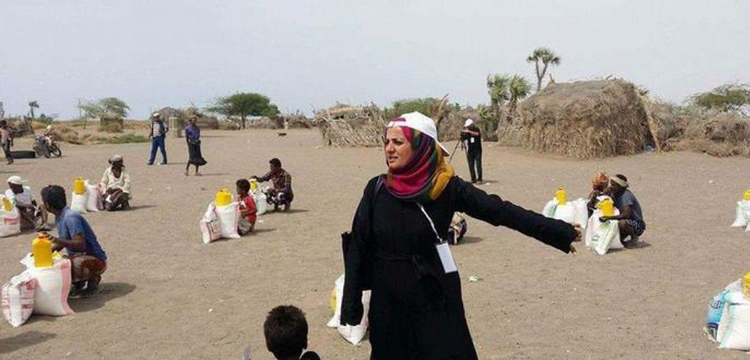 المرأة اليمنية تواجه الحرب في تنفيذ أعمال الإغاثة الإنسانية