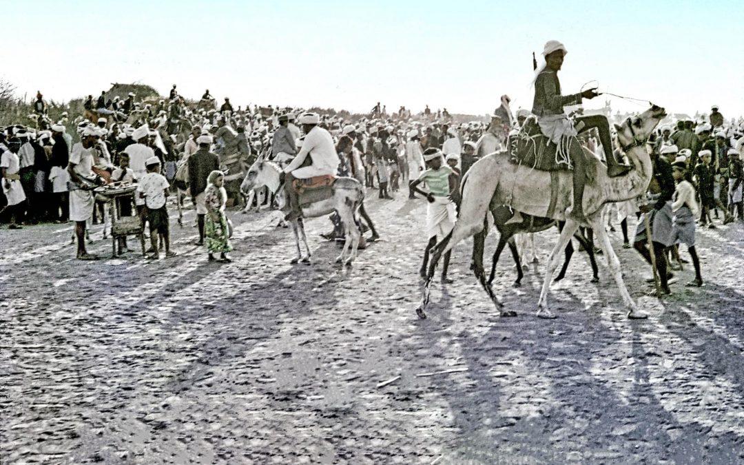 صور لسباق الخيل والجمال السنوي بحسينية الحديدة تعود للعام 1974م